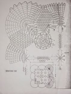 Patrones de Finísimo Mantel hecho con Ganchillo   Crochet y Dos agujas