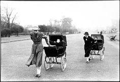 NANNIES WITH BABY CARRIAGES IN KENSINGTON GARDENS, LONDON, 1960 | Chris Beetles Fine Photographs