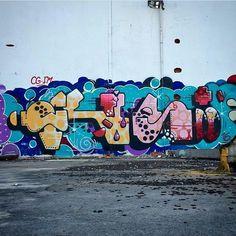RUST  @rust86_  _______________________ #madstylers #graffiti #graff  #style #colorful #stylewriting #summer #sprayart #graffitiart