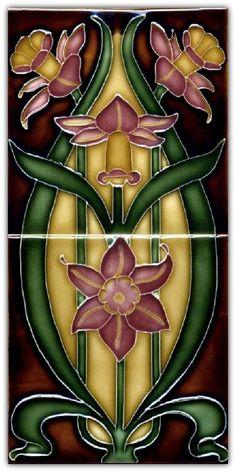 Art Nouveau Tile.                                                                                                                                                     More