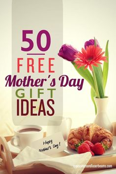 What can you give Mom? Be inspired by these 50 free Mother's Day gift ideas. Step Mothers Day, Mothers Day Meals, Best Mothers Day Gifts, Gifts For Your Mom, Mothers Day Crafts, Happy Mothers Day, Mother Gifts, Fathers Day, Best Gifts