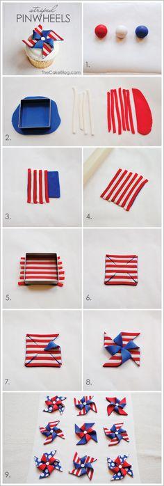 Striped Pinwheel Cupcakes
