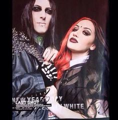 Chris Motionless and Ash Costello