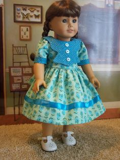 American Girl Doll ClothesSchool Dress18 inch doll by catsdesigns, $24.95