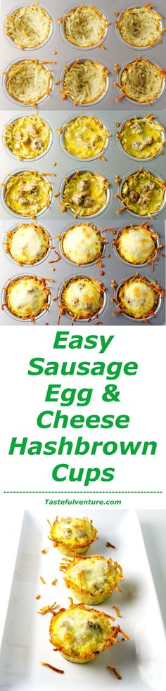 ... hash brown crust mini egg sausage and hash brown bakes recipes