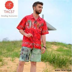 2fab073e61c1 Men s Hawaiian Surf Board print Beach Shirt