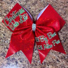 Christmas Cheer Bow by Baddablingbows on Etsy