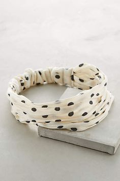 Polka Dot Turban - anthropologie.com #anthrofave
