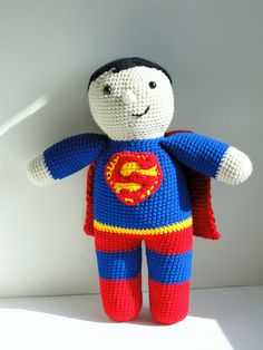 Superman!!  ☀CQ #amigurumi #crochet #crafts #DIY. Thanks for sharing! ¯\_(ツ)_/¯