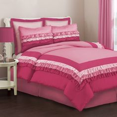 (Click to order - $84.99) Lush Decor 3-Piece Starlet Comforter Set, Pink, Twin From Lush D