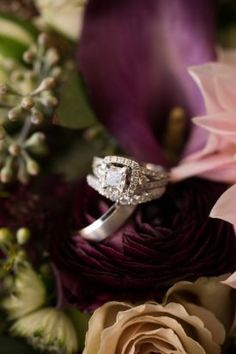 Lovely engagement ring photo must have wedding photos from fall Virginia Vineyard wedding at Morais winery