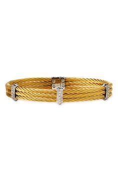 Charriol - 'Classiques' Diamond Cable Bangle