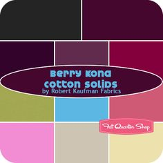 Berry Kona Cotton Solids Fat Quarter Bundle SKU# - Fat Quarter Shop I want to use this for my QAL with PileO'Fabric Purple Love, All Things Purple, Fat Quarter Shop, Charm Pack, Kona Cotton, Kit, Quilt Patterns, Quilts, Modern Quilting