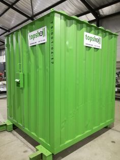 This small, secure, custom-built container is ideal for use as storage space or as a small security hut. The unit has a wooden floor and comes with a special lockbox to prevent forced entry.   #storage #storageunit #storagecontainer #toolshed #shed #containerconversion #shippingcontainers