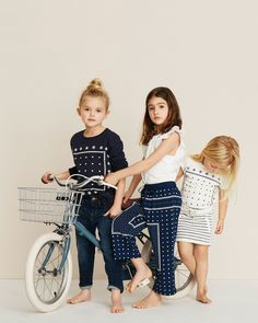 Born to ride: striped separates in navy and white. #TheCRStories