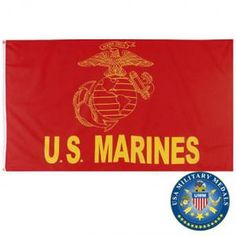 x 5 ft. Marine Flag, Marine Corps, Usmc, Marines, Red Logo, Tapestry, Las Vegas, Retail, American