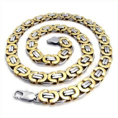 Men's Jewelry Accessories Necklace Made of Titanium Steel Black & Silver Mens Chain Necklace, Titanium Jewelry, Gold Chains For Men, Stainless Steel Necklace, Bracelets For Men, Jewelry Necklaces, Jewelry Shop, Nice Jewelry, Jewellery Uk