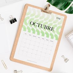calendario 2019 octubre Calendar 2019 Printable, Print And Cut, Projects To Try, Notebook, Bullet Journal, Pattern, Journal Ideas, Joker, Templates