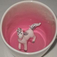 Unicorn Surprise Mug Made to Order by SpademanPottery on Etsy