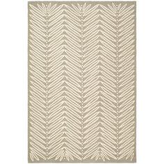 Martha Stewart Chevron Leaves Chamois Beige Wool/ Viscose Rug (5 x 8) | Overstock.com