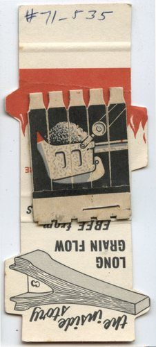 OLD Matchbook Cover DIE CUT H L Points Feature | eBay