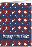 happy fourth of July, red white and blue, hearts and stars Card by Greeting Card Universe. $3.00. 5 x 7 inch premium quality folded paper greeting card. Patriotic cards & photo Patriotic cards from Greeting Card Universe will bring a smile to your loved ones' face. A picture is worth a thousand words, so why not send a photo Patriotic card this year? Send a paper Patriotic card from Greeting Card Universe this year. This paper card includes the following theme...