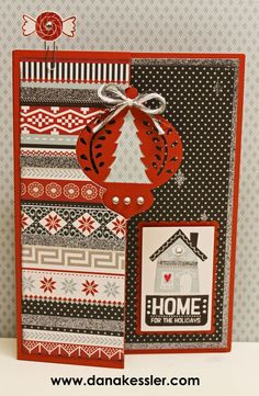 October 2014 SOTM:  Home for the Holidays Artfully Sent Card