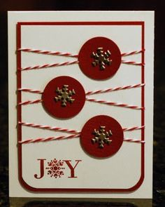 Circle punched card - snowflake
