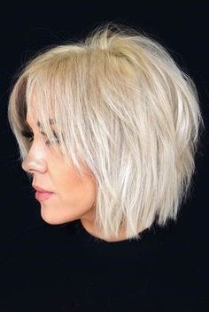 Shaggy Bob #bob ❤️ Check out these easy hairstyles for fine hair. See how you can sport bob with bangs and many other cool styles for short, medium, and long hair. Round face and thin hair are not an obstacle! ❤️ #lovehairstyles #hair #hairstyles #haircuts Shaggy Bob Haircut, Choppy Bob Haircuts, Short Layered Haircuts, Haircuts For Fine Hair, Short Bob Hairstyles, Hairstyles Haircuts, Layered Cuts, Stylish Hairstyles, Long Haircuts
