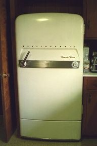 I have a vintage fridge but it's not as cool as this one. 1953 Westinghouse Refrigerator