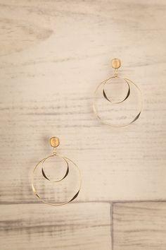 Jocularitas Gold Hoop Pendant Earrings | La Petite Garçonne
