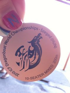 close up of one of the medals won this week! Dragon Boat, World Championship, Hungary, Travel Usa, World Cup