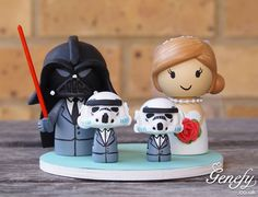 Gorgeous Geeky Cake Toppers - Star Wars Darth Vader and Storm Trooper Wedding Cake Topper - Genefy Playground