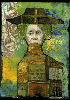 collage by Anne Bagby.    I love Anne Bagby's intricate and many patterned works.