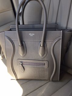 Celine Micro Luggage Tote in color Souris f148147e1a79b