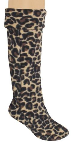 Capelli New York Spotted Leopard Microfiber Ladies Tall Rainboot Liner - List price: $16.00 Price: $11.95 Saving: $4.05 (25%)