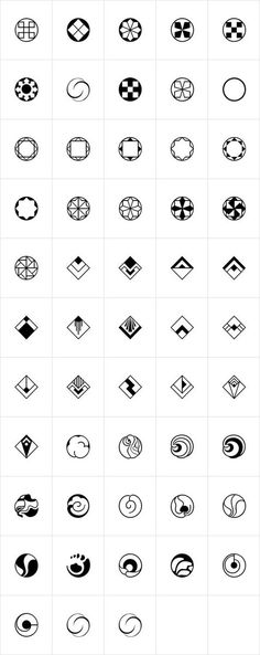 Rotata Mysticons were designed by Hellmut G. Bomm in 2004 released by URW of Germany. An interesting collection of icons and symbols in various styles with a slight hint of Art Deco. Geometric Logo, Geometric Designs, Geometric Shapes, Graphisches Design, Logo Design, Symbol Design, Cool Tattoos, Tatoos, Art Deco Tattoo