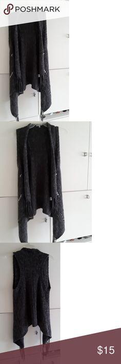 Charlotte Russe sweater jacket Charlotte Russe sweater jacket in dark grey Charlotte Russe Sweaters