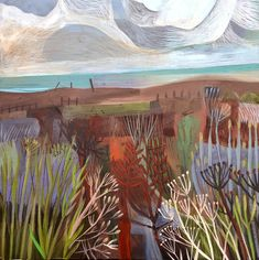 Este MacLeod sea breeze painting. Acrylic on board.