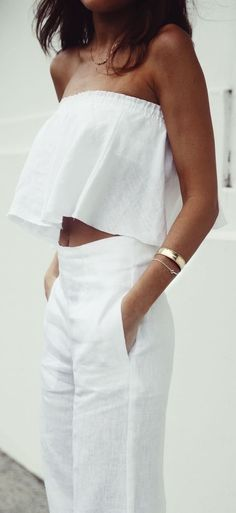 #summer #outfits / all white