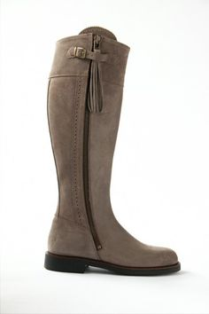 Spanish Riding boot suede (with flat sole)