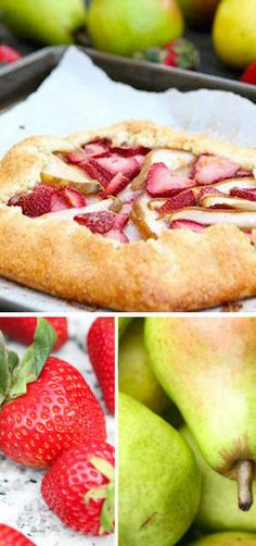 Pear and Strawberry Galette