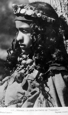 "Africa |  ""Pretty Berber from Tagmout"".  Morocco 