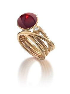 Ruby Ring - wonderful flowing design