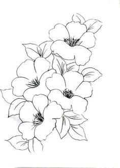 DESENHOS PARA PINTAR: Flores.