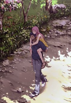 Aomine x Momoi. Even though he complains about her, he cares about her.