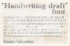 http://www.dafont.com/es/handwriting-draft.font