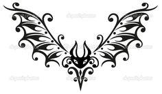 Halloween bat tribal vector image on VectorStock Cute Tattoos, Body Art Tattoos, Tatoos, Oz Tattoo, Arabic Tattoos, Sleeve Tattoos, Vector Art, Halloween Bats, Pointillism