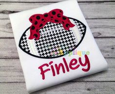Football with bow applique design is available in the following sizes: 5x7, 6x10 and 9x9  Formats: ART, DST, EXP, HUS, JEF, PES, SEW, VIP, VP3, XXX  5x7: 4.99 x 6.69 Stitch Count 12,143 6x10: 8.00 x 5.97 Stitch Count 14,504 9x9: 7.50 x 5.60 Stitch Count 13,584  You may not copy, share or sell the digitized design or reproduce it in any way unless it is stitched as a finished product to sell. Due to the electronic nature of this listing, all sales are final. Please read our policies before…