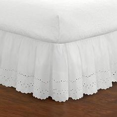 Croft & Barrow® Ruffle Bedskirt Bed Risers, Under Bed Storage, King Beds, King Duvet, White Skirts, California King, Bedding Collections, Feminine Style, Bed Frame